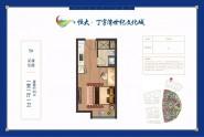 恒大·丁字湾世纪文化城5#1室1厅1卫49㎡户型